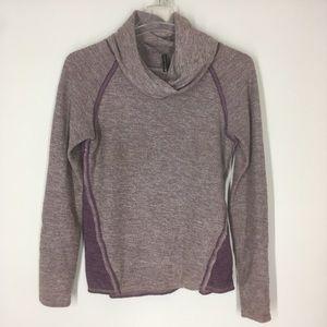 Kuhl womens medium purple cowl neck sweater
